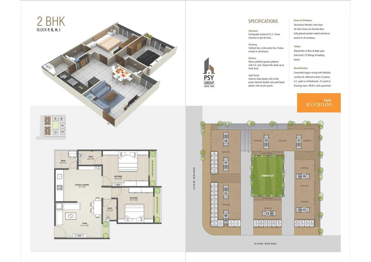Pramukh Elysium 2 Bhk Apartments Shops At Gandhinagar Psy Group Apartment Building Wiring Diagram